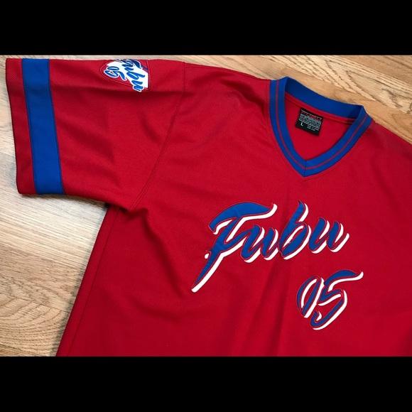 aae569685ee38 Vintage VTG FUBU JERSEY 05 LARGE L 90s HIP HOP RED